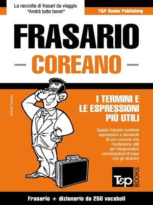 cover image of Frasario Italiano-Coreano e mini dizionario da 250 vocaboli