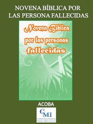 cover image of Novena Bíblica por las Personas Fallecidas