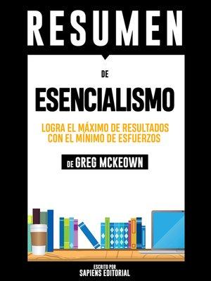 cover image of Esencialismo