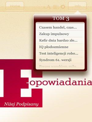 cover image of E-opowiadania [3]