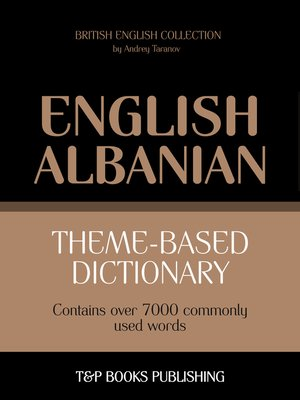 cover image of Theme-based dictionary British English-Albanian