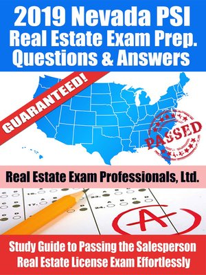 cover image of 2019 Nevada PSI Real Estate Exam Prep Questions, Answers & Explanations