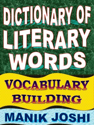 cover image of Dictionary of Literary Words