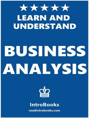 cover image of Learn and Understand Business Analysis