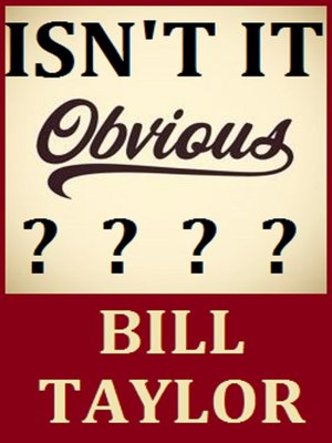 cover image of Isn't It Obvious