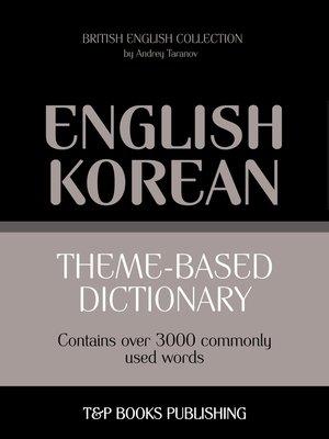 cover image of Theme-based dictionary British English-Korean