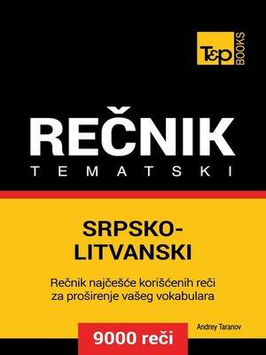 cover image of Srpsko-Litvanski tematski rečnik