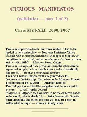 cover image of Curious Manifestos (Politistics) — Part One