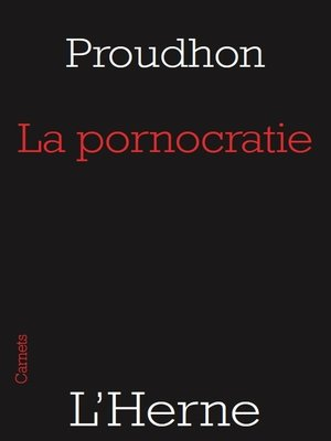 cover image of La pornocratie