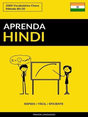 cover image of Aprenda Hindi