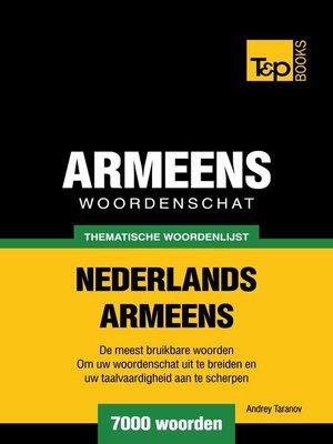 cover image of Thematische woordenschat Nederlands-Armeens