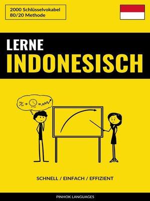 cover image of Lerne Indonesisch