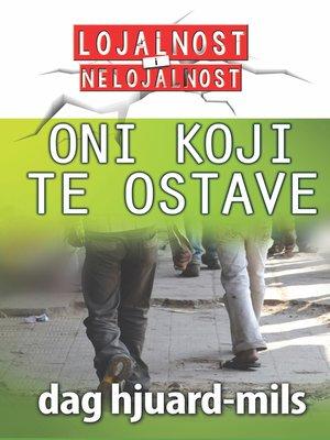 cover image of Oni koji te OSTAVE