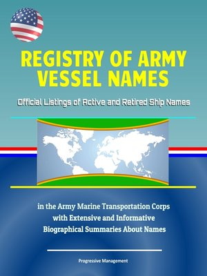 cover image of Registry of Army Vessel Names