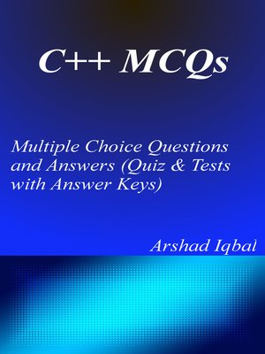 cover image of C++ Multiple Choice Questions and Answers (MCQs)
