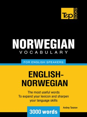 cover image of Norwegian vocabulary for English speakers