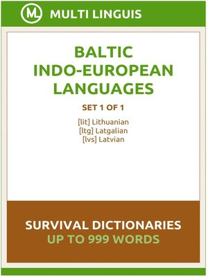 cover image of Baltic Languages Survival Dictionaries (Set 1 of 1)