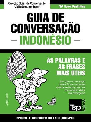 cover image of Guia de Conversação Português-Indonésio e dicionário conciso 1500 palavras