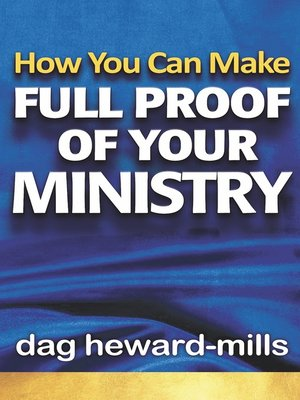 cover image of How You Can Make Full Proof of Your Ministry