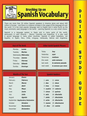 cover image of Spanish Vocabulary (Blokehead Easy Study Guide)