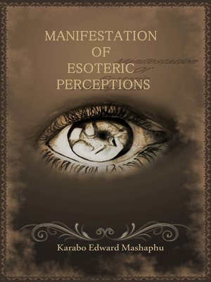 cover image of Manifestation of Esoteric Perceptions
