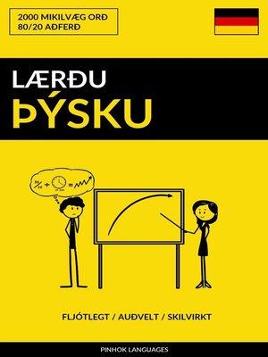 cover image of Lærðu Þýsku