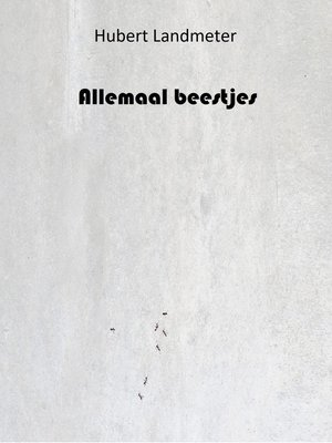 cover image of Allemaal beestjes