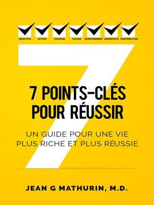 cover image of 7 Points-Clés Pour Réussir
