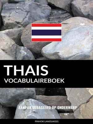 cover image of Thais vocabulaireboek
