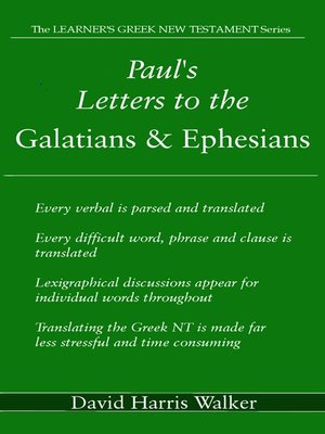 cover image of Paul's Letters to the Galatians & Ephesians