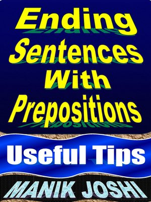cover image of Ending Sentences with Prepositions