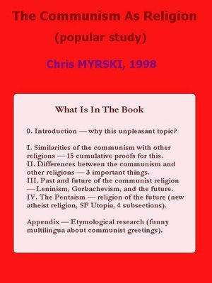 cover image of The Communism As Religion (Popular Study)
