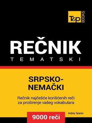 cover image of Srpsko-Nemački tematski rečnik