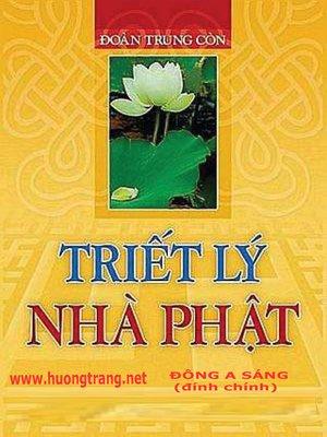 cover image of Triết lý Nhà Phật.