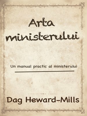 cover image of Arta Ministerului
