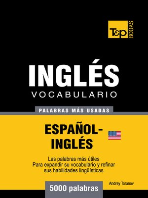 cover image of Vocabulario Español-Inglés Americano