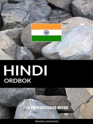 cover image of Hindi ordbok