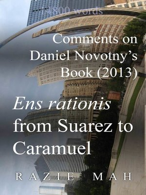 cover image of Comments on Daniel Novotny's Book (2013) Ens Rationis from Suarez to Caramuel
