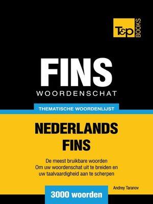 cover image of Thematische woordenschat Nederlands-Fins