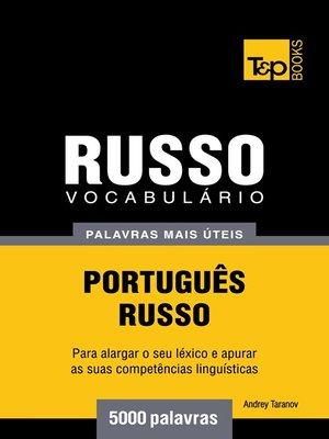 cover image of Vocabulário Português-Russo