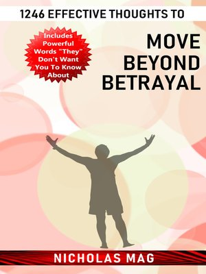 cover image of 1246 Effective Thoughts to Move Beyond Betrayal