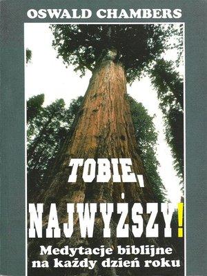cover image of Tobie Najwyższy