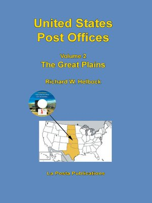 cover image of United States Post Offices Volume 2 the Great Plains