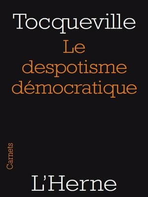 cover image of Le despotisme démocratique