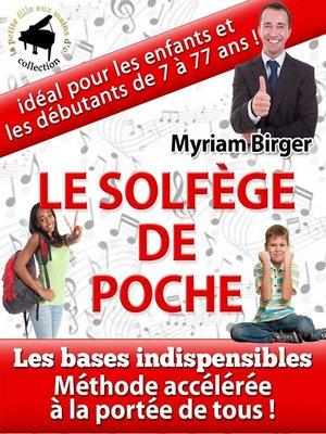 cover image of Le Solfège de Poche