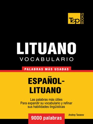 cover image of Vocabulario Español-Lituano
