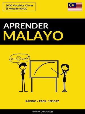 cover image of Aprender Malayo