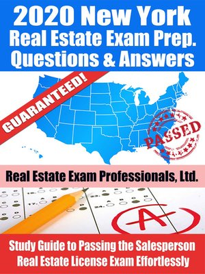 cover image of 2020 New York Real Estate Exam Prep Questions & Answers