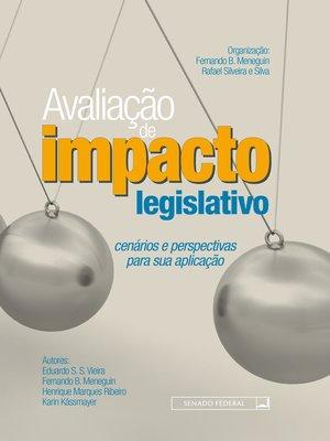 cover image of Avaliação de impacto legislativo