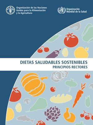 cover image of Dietas saludables sostenibles